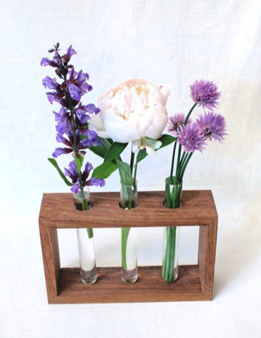 Test Tube Vase - Butternut Wood