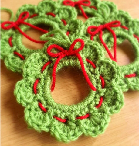 Ornament - Crochet Wreath