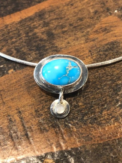 Necklace - Sterling & Turquoise