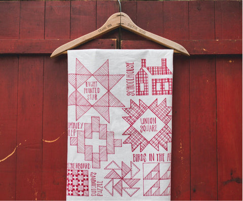 Tea Towel - Red Quilt