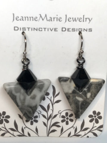 Earrings - Stone Agate