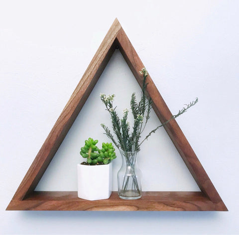 Triangle Shelf - Walnut