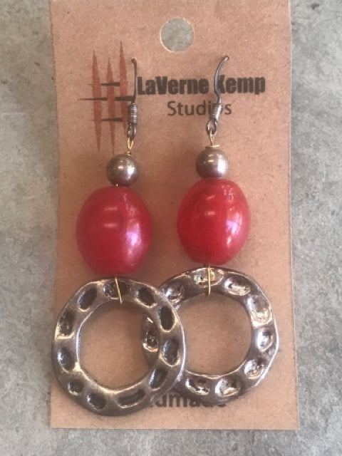 Earrings - Bakelite with Circles