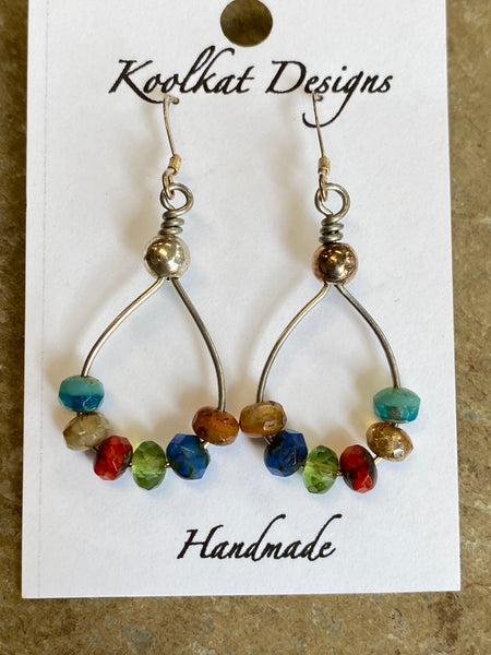 Earrings - Czech Glass Hoops