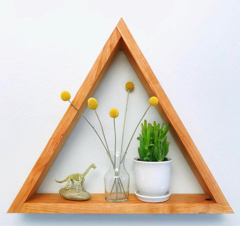 Triangle Shelf - Cherry Wood