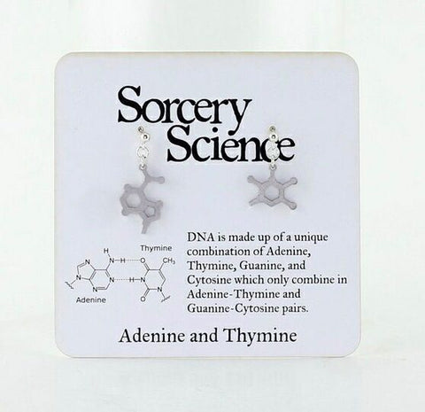Earrings - Molecule Adenine/Thymine