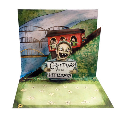 Card - Pittsburgh Zombie Pop Up