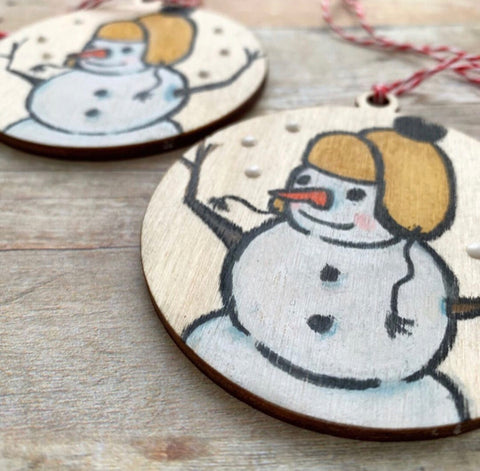 Ornament - Handpainted Snowman
