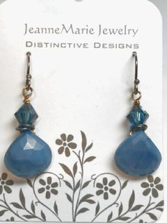Earrings - Stone Opal Drops