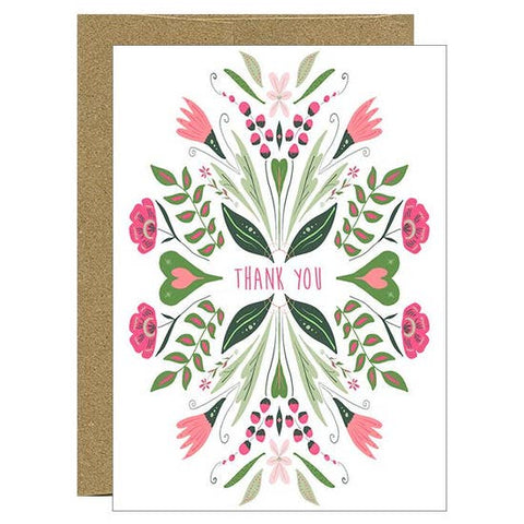 Card - Watercolor Print Thank You