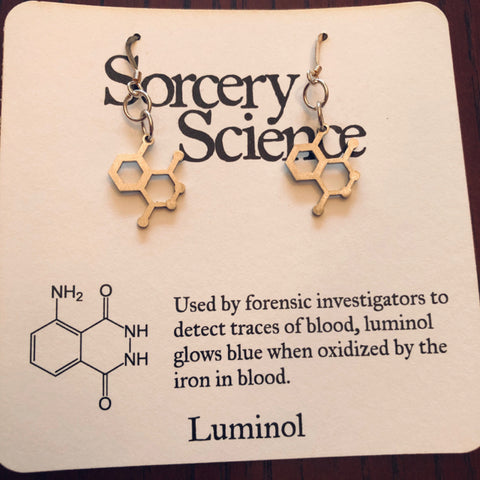 Earrings - Molecule Luminol