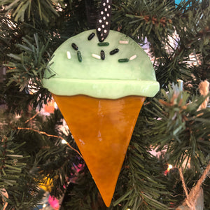 Ornament - Glass Ice Cream Cone