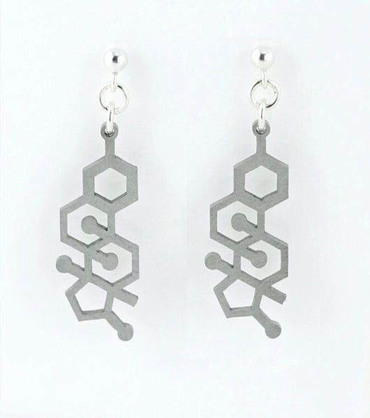Earrings - Steel Molecules