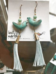 Earrings - Ceramic Bird