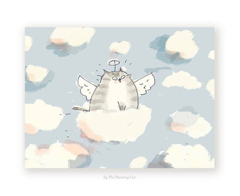 Card - Cat Cloud Ride