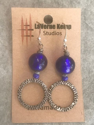 Earrings - Glass Drops with Circles