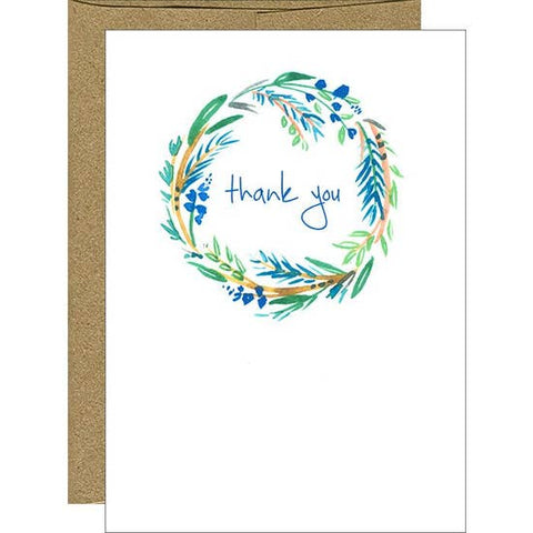 Card- Watercolor Print Thank You
