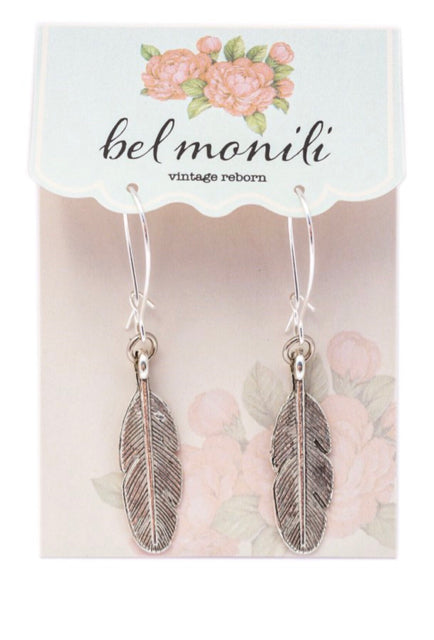 Earrings - Metal Feathers
