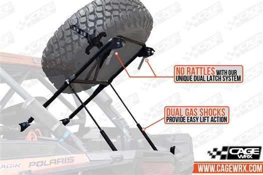 Cage Wrx-RZR XP 1000/Turbo/ Turbo S Spare Tire Carrier - Standard Height