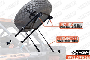 Cage Wrx-RZR XP 1000/Turbo/ Turbo S Spare Tire Carrier - High Clearance