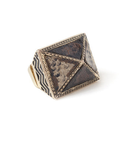 Leather Pyramid Ring