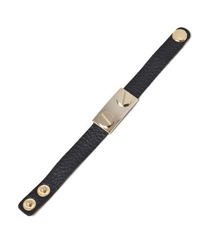 leather-bolt-fashion-bracelet-black