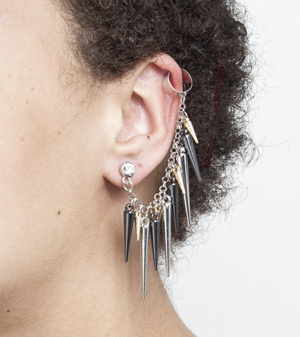 Dangling Spike Earring