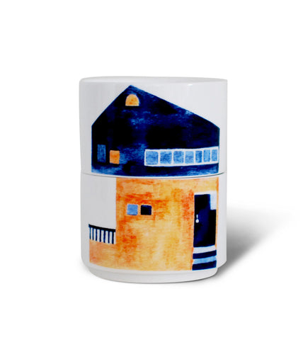 Modern House Stacking Mugs