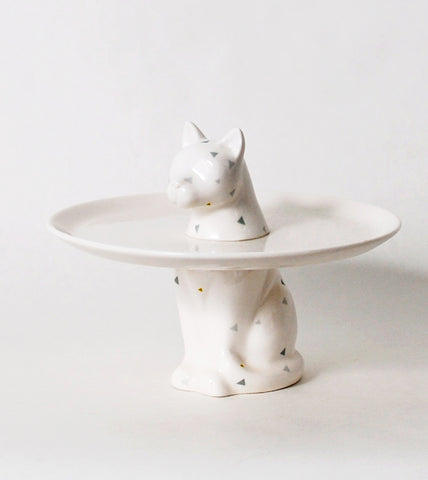 Cat Menagerie Ceramic Cake Plate