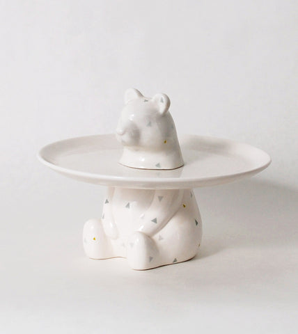 Bear Menagerie Ceramic Cake Plate