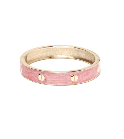 Bolted Bangle - Pink