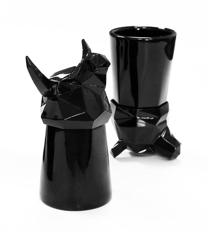 Geo Bull Shot Glass