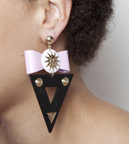 Bow & Triangle Earrings