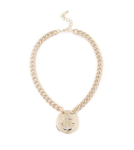 Anchor Pendant Chain Necklace