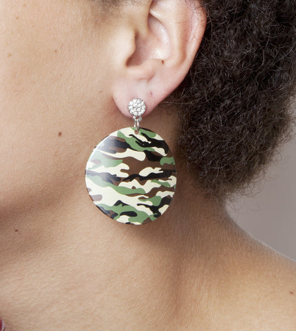 Camo & Stud Earrings
