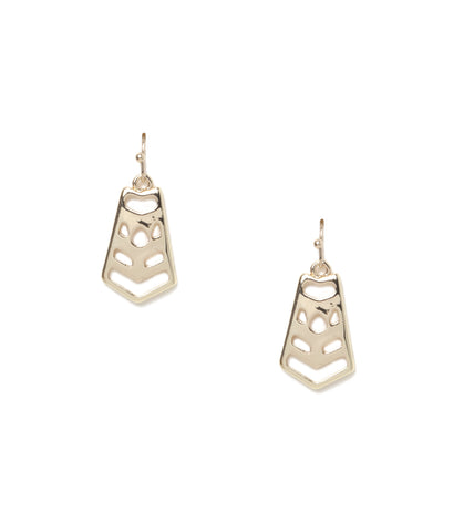 Aztec Cutout Statement Earrings
