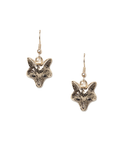 Fox Face Earrings