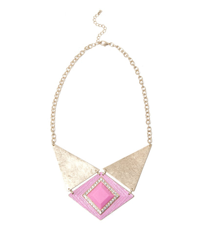 pink-jewel-center-triangle-plate-fashion-statement-necklace