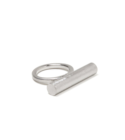 Brushed Metal Bar Ring