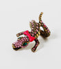 pink-rhinestone-crocodile-fashion-statement-jewelry-rings