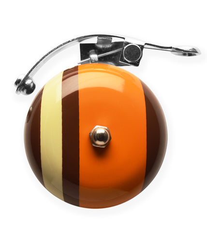 Brown Orange Strips Bike Bell Accessories
