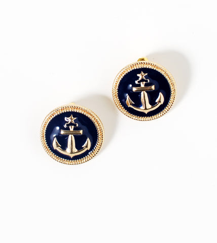 Antique Anchor Button Studs