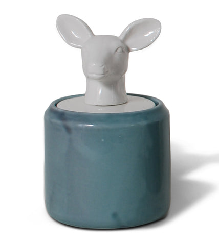 Doe Head Ceramic Kitchen Canisters