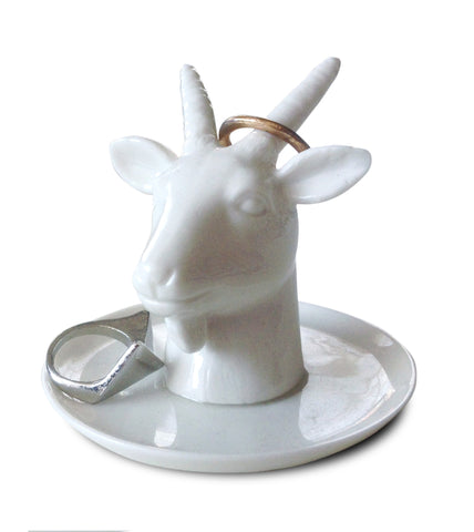 Goat Head Ceramic Ring Holder