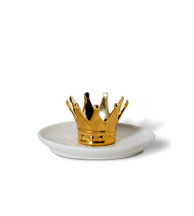 Golden Crown Ring Holder