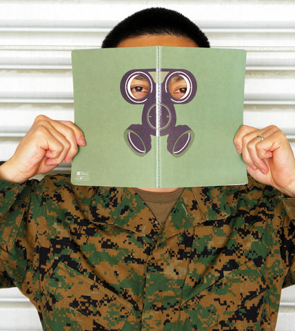Peeping Gas Mask Notebook