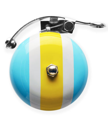 Bell Bike Accessories, cool bike accessories, fun bike accessories, Yellow Baby Blue Bike Bell