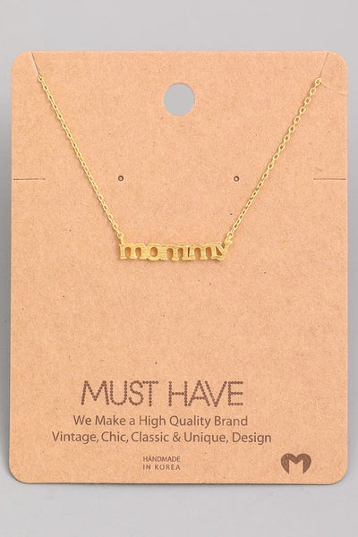 mommy necklace in gold