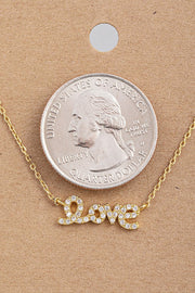 jewel love necklace in gold
