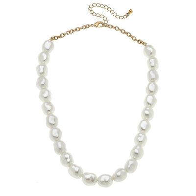 alexa pearl necklace in ivory